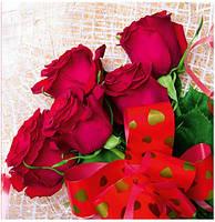 Подарочный бумажный пакет КВАДРАТ ''Розы'' (24*24*10)
