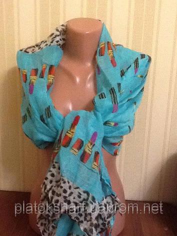 Шарфи бавовна жіночі кольорові,, фото 2