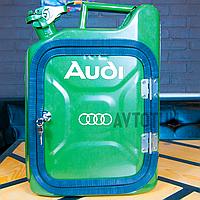 """Канистра-бар 10 л """"Audi"""". Топ начинка и подстветка. Нанесем любую надпись. Минибар из канистры."""