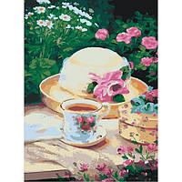 Картина для рисования по номерам на холсте Натюрморт Пикник в саду 30*40 KHO2206