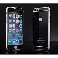 Защитное стекло (2in1) TG Premium Tempered Glass 0,26mm 2,5D для iPhone 6 Black Mirror переднее + заднее