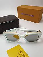Солнцезащитные очки Louis Vuitton 96006 белый линза зеркало
