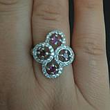 Срібний перстень з гранатами, фото 2