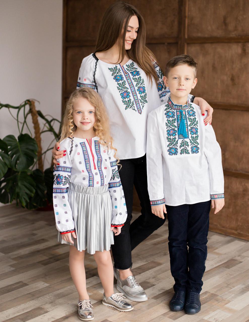 Вишиванки для мами, доньки та сина Борщівка