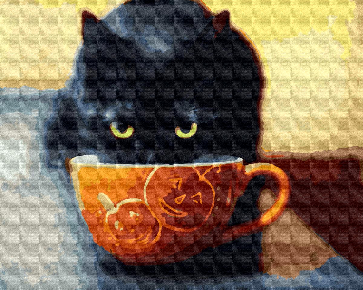 Картина по номерам Счастливый котик 30207 40*50