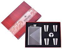 Подарочный набор Серебряная фляга с 4-мя стопками