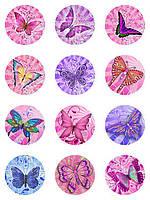 Вафельные картинки  для кексов капкейков маффинов пряников бабочки
