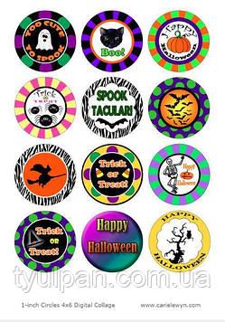 Вафельная картинка для капкейков маффинов кексов хэллоуин