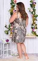 Сорочка женская шелк принт лео норма и Большого размера, фото 2