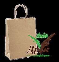 Бурый крафт-пакет с ручками (150х80х240)