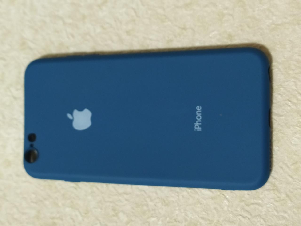 Накладка   Silicon Cover full   для    iPhone  6  Plus   (темно-синий) Copy