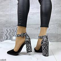 Черные туфли с цветным каблуком, фото 3