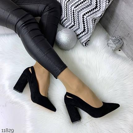 Красивые черные туфли на каблуке, фото 2