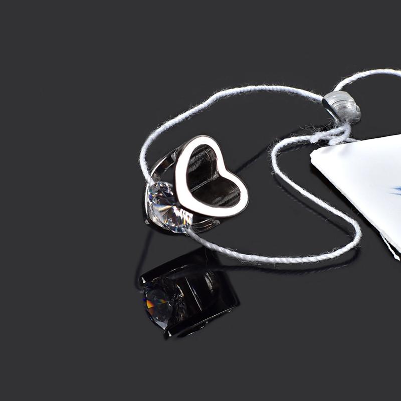 Срібна підвіска Серце з фианитом Aurora 89034б