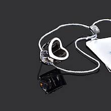 Серебряная подвеска Сердце с фианитом Aurora 89034б
