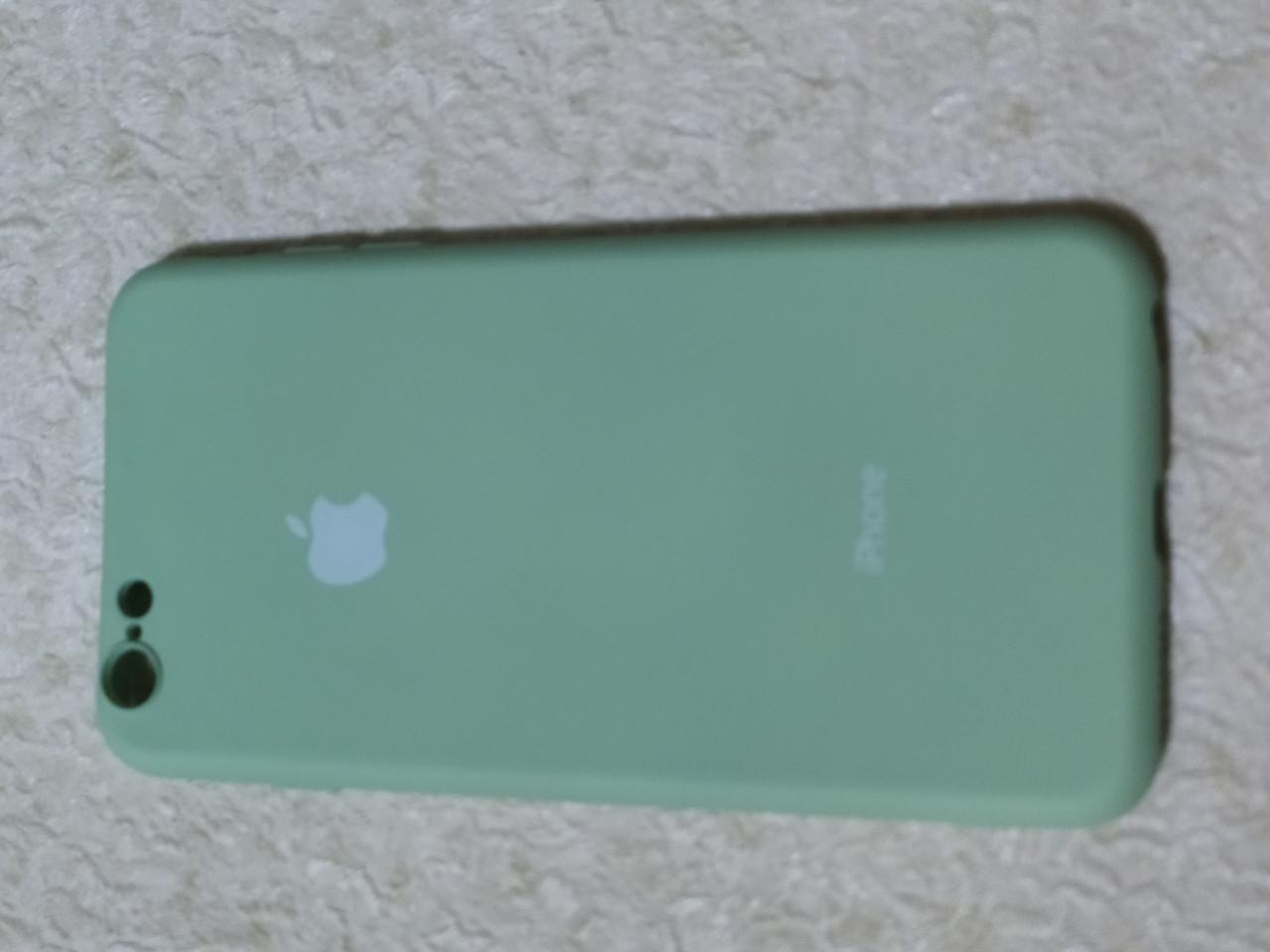 Накладка   Silicon Cover full   для    iPhone  6  Plus   (мятный) Copy