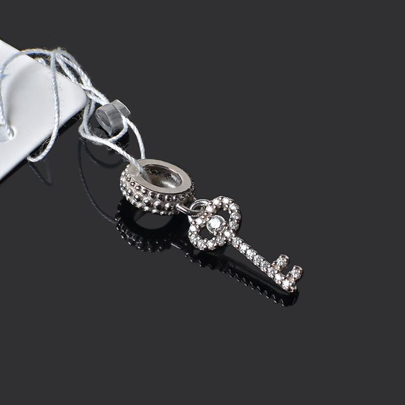 Наборная подвеска шарм Ключик из серебра Aurora 74488б