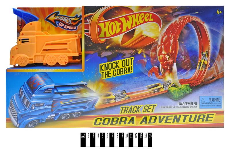 "Трек-запуск ""Hot Wheel"" ""Cobra Truck"" (+1 машинка) /24/"