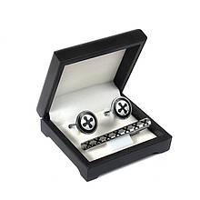 Подарунковий набір запонки та затискачі для краватки Емаль 7