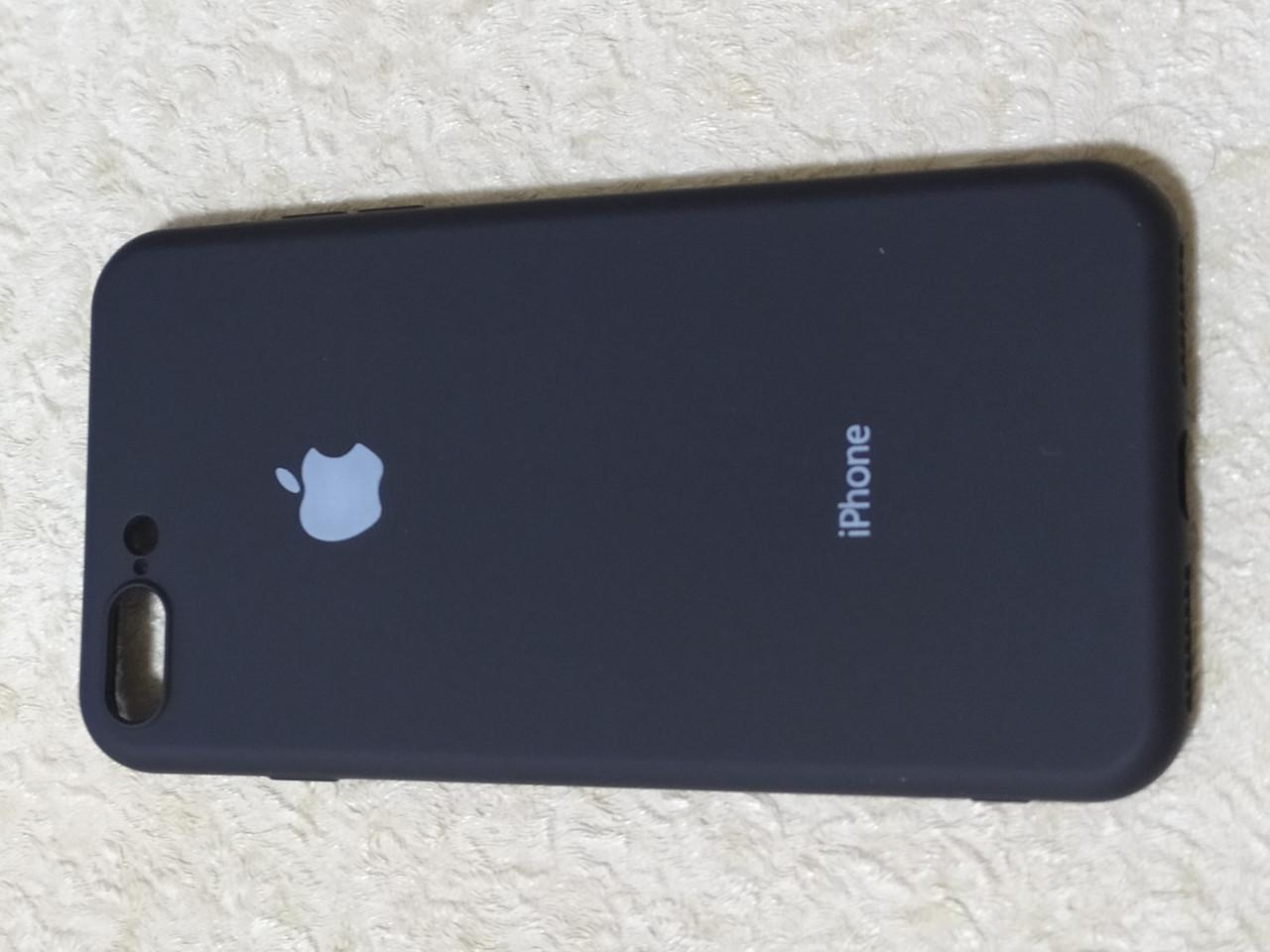 Накладка   Silicon Cover full   для    iPhone 7  Plus / 8  Plus  (черный) Copy