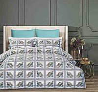Комплект постельного белья семейный 160x220 см хлопок серый Arya Fashionable Mona (TR1004069)