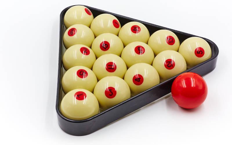 Шары для бильярда (d-68мм, в компл. 16 шаров, белые)