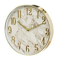 """Часы """"Белый мрамор"""" (30см)"""