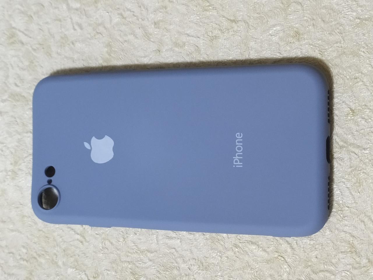 Накладка   Silicon Cover full   для  iPhone 7 / 8    (серый) Copy