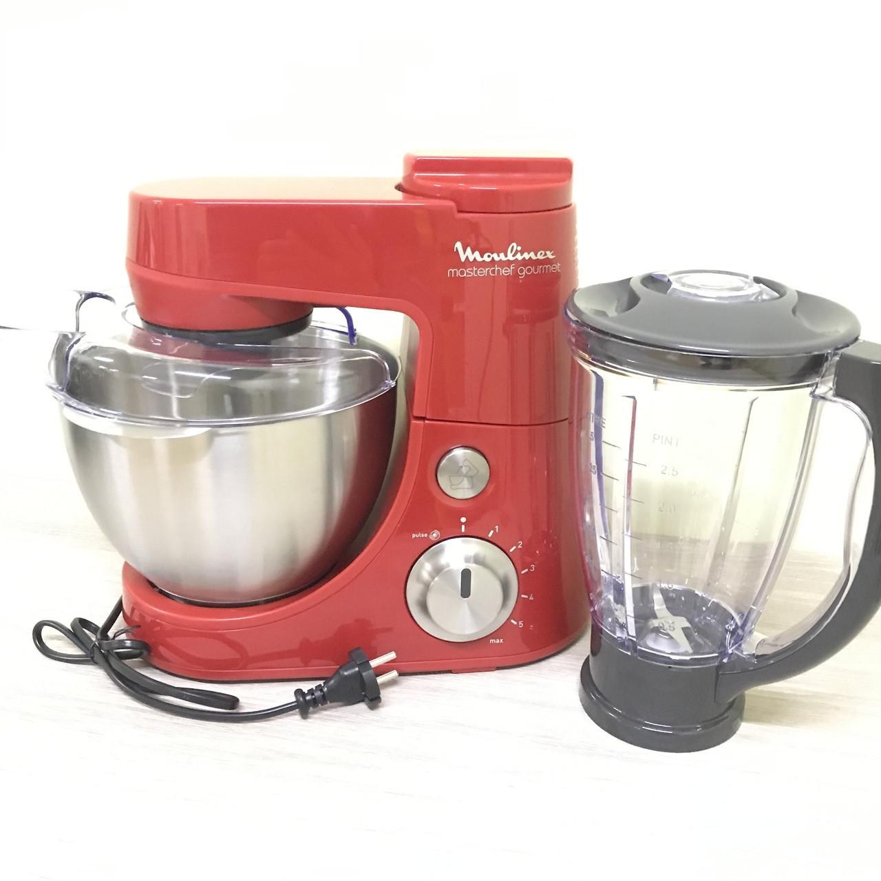 Кухонный комбайн Moulinex Masterchef Gourmet Rouge мощность 900W, чаша 4L, блендер 1,5L
