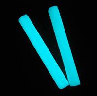 """Полимерная глина """"Пластишка"""", синего свечения, люминофорный, фосфоресцентный, 75 г"""