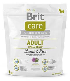 Сухой корм для собак малых пород Brit Care Adult Small Breed Lamb & Rice с ягненком и рисом 1 кг