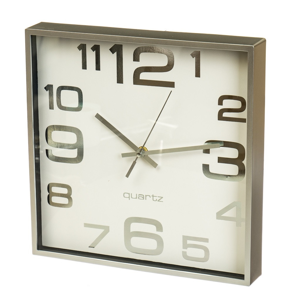 "Часы ""Белый ретро квадрат"" (28см)"