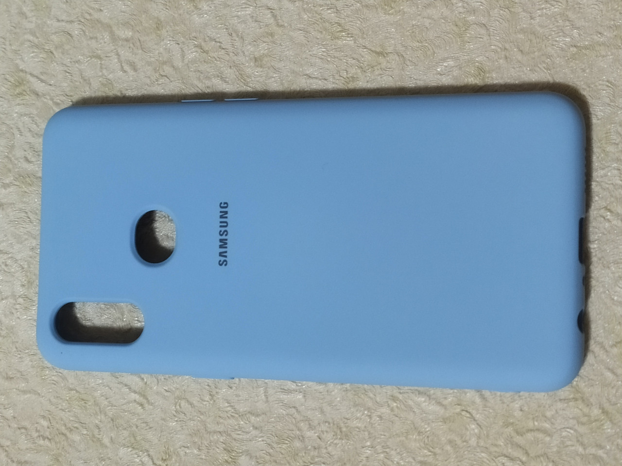 Накладка   Silicon Cover full   для  Samsung A10s    (голубой)