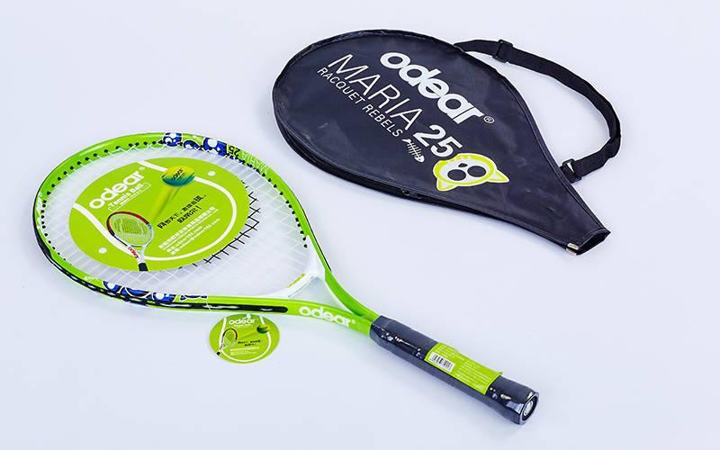 Ракетка для большого тенниса детская Odear (алюминий, 8-9лет, 25in, зеленый) PZ-BT-5508-25