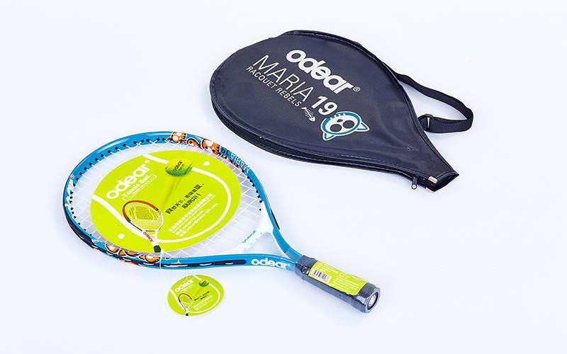Ракетка для большого тенниса детская Odear (алюминий, 5-6лет, 19in, голубой) PZ-BT-5508-19