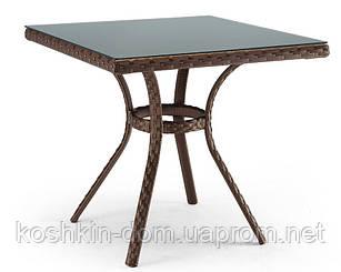 Стол Блюз квадрат плетенная мебель из искусственного ротанга