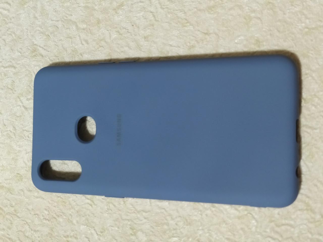 Накладка   Silicon Cover full   для  Samsung A10s    (серый)