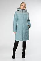 Демисезонная удлиненная  куртка классического стиля, приталенного силуэта с вшитым капюшоном в 2 цветах