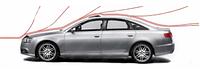 Дефлектор капота Nissan Patrol (Y62) 2010 / Infiniti QX 56 2010