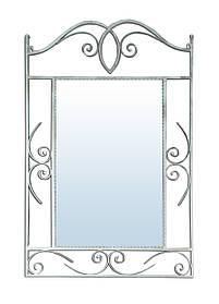 Зеркало Sovalle Неаполь Серебристый кованное 103 NEW
