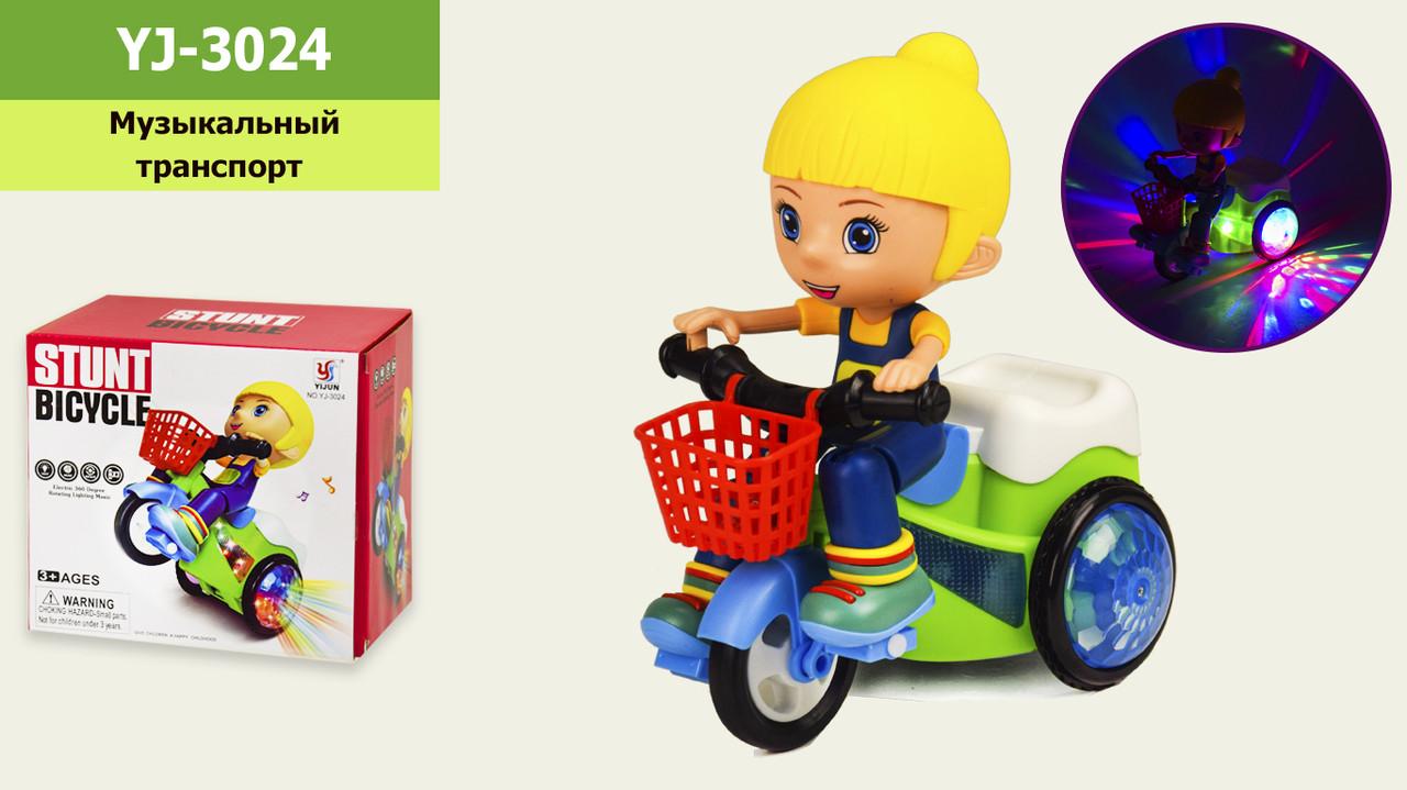 Муз. Мотоцикл світло,звук, р-р іграшки - 17*10*19см, в коробці 17,5*11,5*16см /60-2/