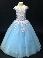 Нарядное бальное детское платье Ария на 8-9 лет