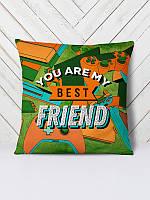 Декоративная подушка с 3D принтом, сублимация ReD Best friend