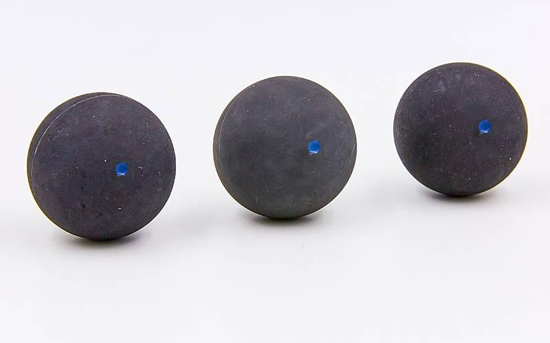 Мяч для сквоша AEROPLANE (3шт) FAST (резина, d-4см, синяя точка, быстрый мяч) PZ-BT-7173-BL