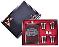 Подарочный набор Фляга под старое прославленное виски 4 стопки