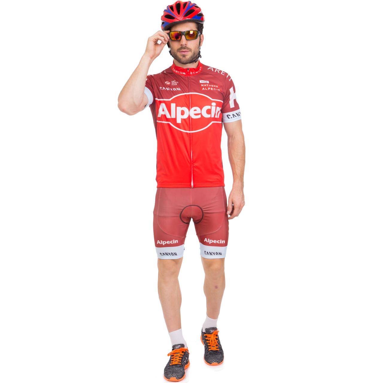 Велоформа короткий рукав ALPECIN (M-3XL-55-90кг-168-192см, красный) M-55-65кг-168-175см PZ-Y-20_1