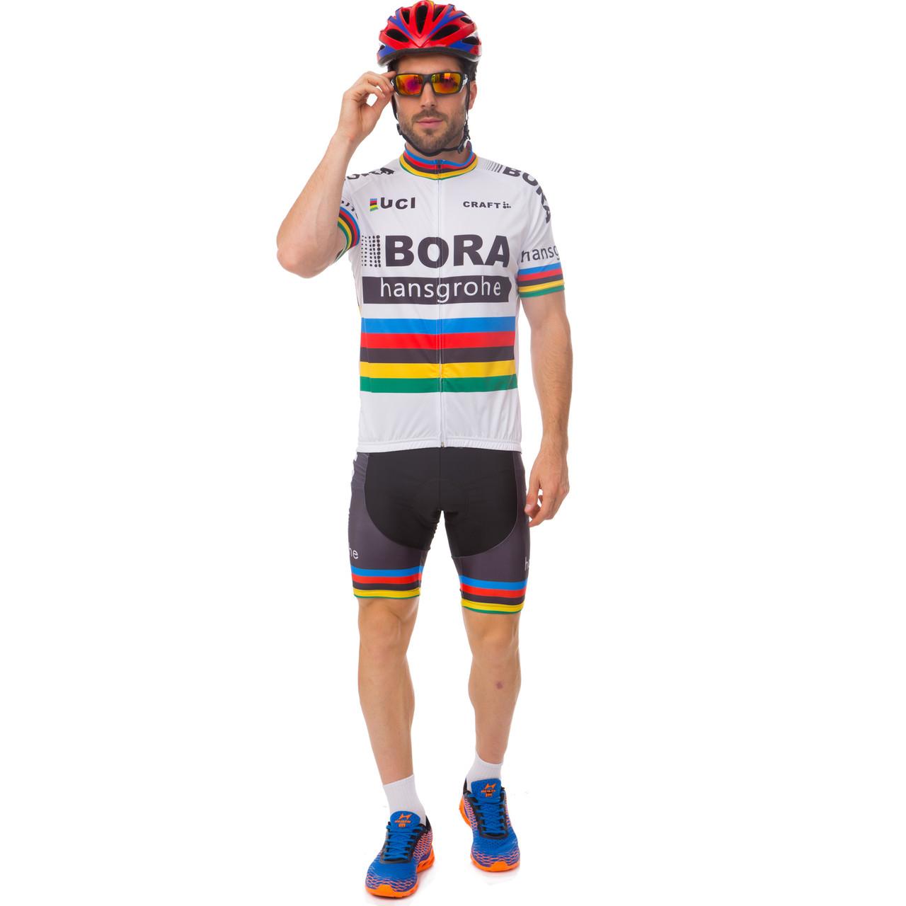 Велоформа короткий рукав BORA (M-3XL-55-90кг-168-192см, белый-черный) M-55-65кг-168-175см PZ-Y-29_1
