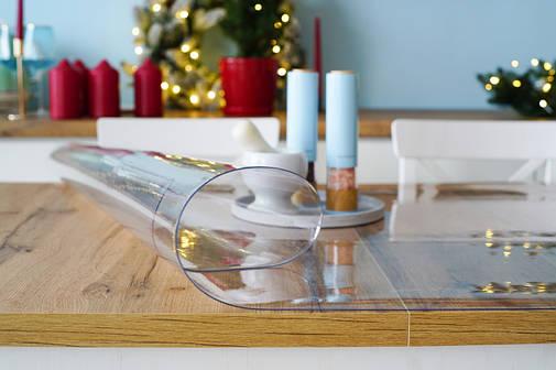 Мягкое стекло 1,5 мм, прозрачное покрытие для защиты стеклянных и деревянных поверхностей, прозоре м'яке скло, фото 2