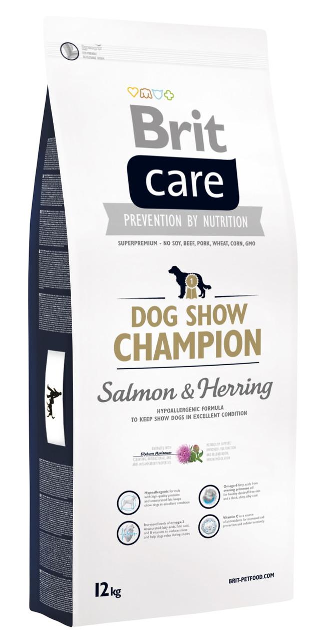 Сухой корм для выставочных собак Brit Care Dog Show Champion с лососем и сельдью 12 кг