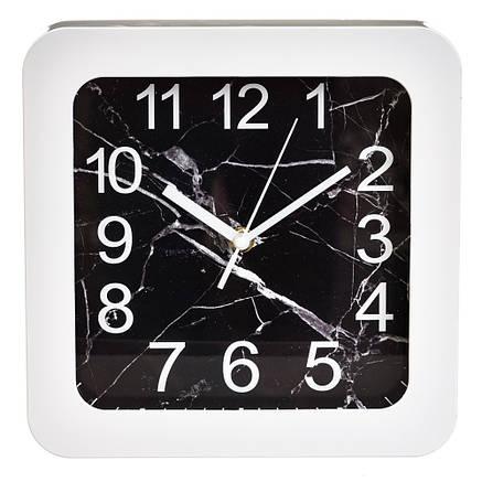 """Часы """"Чёрно-белый квадрат"""" (23см), фото 2"""